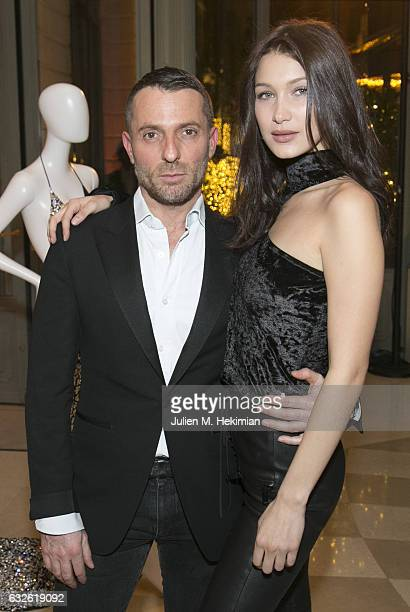 Alexandre Vauthier and Bella Hadid attend the Swarovski Celebrates 10 Seasons X Alexandre Vauthier cocktail and dinner at Hotel Ritz on January 24...