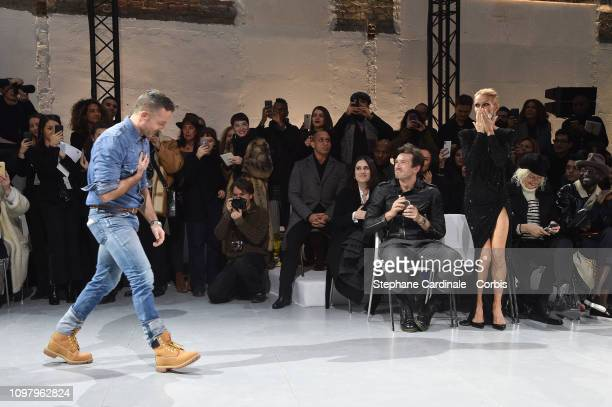 Alexandre Vauthier Pepe Munoz and Celine Dion attend the Alexandre Vauthier Haute Couture Spring Summer 2019 show as part of Paris Fashion Week on...