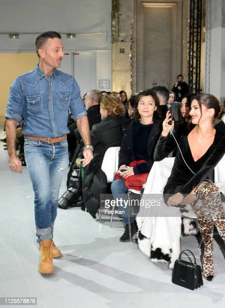 Alexandre Vauthier walks the Runway during the Alexandre Vauthier Haute Couture Spring Summer 2019 show as part of Paris Fashion Week on January 22...