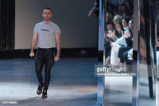 Alexandre Vauthier walks the runway during the Alexandre Vauthier Haute Couture Fall/Winter 20162017 show as part of Paris Fashion Week on July 5...