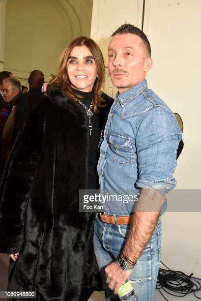 Alexandre VauthierÊand Carine Roitfeld attend the Alexandre Vauthier Haute Couture Spring Summer 2019 show as part of Paris Fashion Week on January...