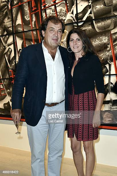 Alexandre Viilgrain and Denise Vilgrain attend the 'Gilbert George' Press Preview at Galerie Thaddaeus Ropac in Patin on September 12 2014 in Paris...