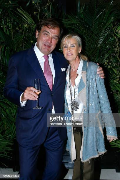 Alexandre Vilgrain and Dominique Van Den Bosch attend the 'Diner des Amis de Care' at Hotel Peninsula Paris on October 9 2017 in Paris France