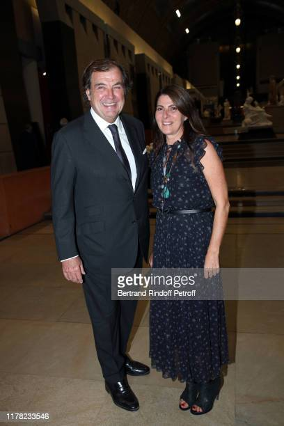 """Alexandre Vilgrain and his wife attend the """"Societe Des Amis Du Musee D'Orsay"""" Dinner Party Hosted By Countess Jacqueline De Ribes on September 30,..."""
