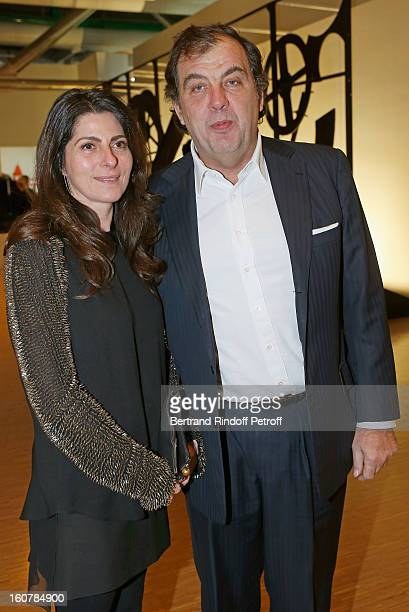 Alexandre Vilgrain and his wife Denise attend the 8th Annual Dinner of the 'Societe Des Amis Du Musee D'Art Moderne' at Centre Pompidou on February 5...