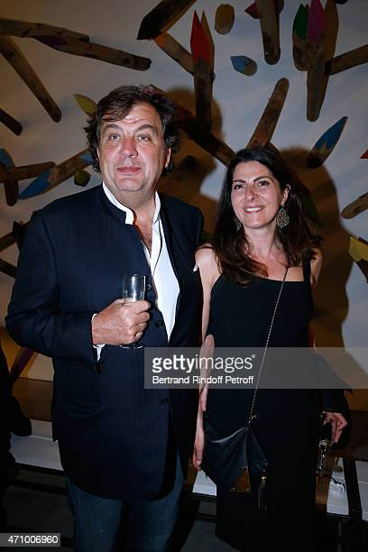 Alexandre Vilgrain and his wife Denise attend the 'A Moment of Reconstruction' Informal Dinner and Concert held at VNH Gallery on April 24 2015 in...
