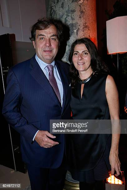 Alexandre Vilgrain and his wife Denise attend the 'Diner des amis de Care' for the 70th anniversary of the Association Held at Espace Cambon on...