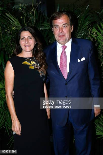 Alexandre Vilgrain and his wife Denise attend the 'Diner des Amis de Care' at Hotel Peninsula Paris on October 9 2017 in Paris France