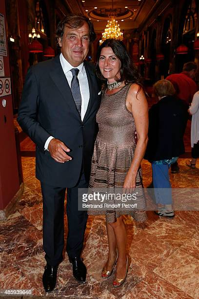 Alexandre Vilgrain and his wife Denise attend the Grand Bal de Deauville For Care France Association with Dior in Casino Barriere de Deauville on...