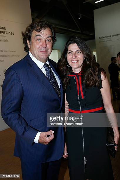 Alexandre Vilgrain and his wife Denise attend the Societe des Amis du Musee d'Art Moderne du Centre Pompidou Dinner Party Held at Centre Pompidou on...