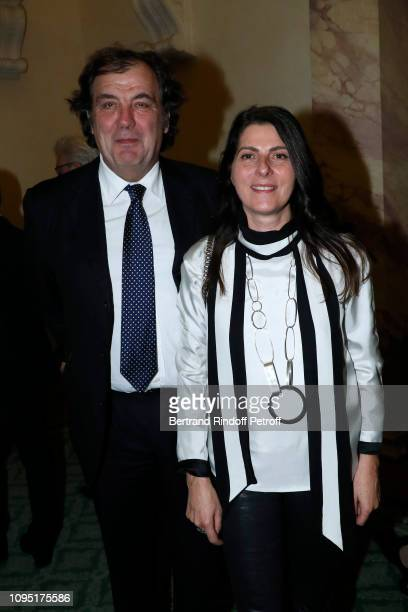 Alexandre Vilgrain and his wife Denise Vilgrain attend the 2018 Prize of the 'Stephane Bern Institut de France' Foundation at Institut de France on...