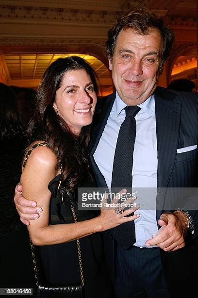 Alexandre Vilgrain and his wife Denise Vilgrain attend the 50th Anniversary party of Stephane Bern called 'Half a century it's party' celebrated at...