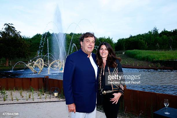 Alexandre Vilgrain and his wife Denise Vilgrain attend the Inauguration of the 'Bosquet du Theatre d'eau' of the Chateau de Versailles on May 10 2015...