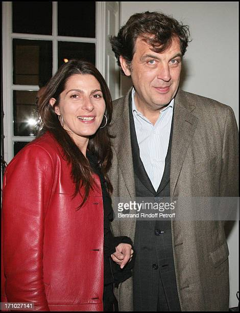 Alexandre Vilgrain and his wife Exhibition launch 'L'art du Desir' by Luigi Scialanga at Phillips De Pury Company