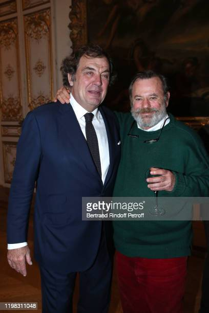 Alexandre Vilgrain and Louis Benech attend Valerie Maltaverne receives Insignia of Knight of Arts and Letters Chevalier des Arts et des Lettres at...