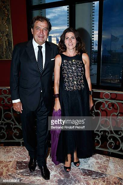 Alexandre Vilgrain and President of the Honor committee Denise Vilgrain attend the Grand Bal de Deauville For Care France Association in Casino...