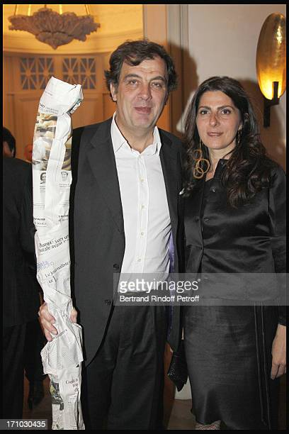 Alexandre Vilgrain and wife Denise Vilgrain at Stephane Bern Is Honoured At His Paris Home With The Title Of Officier De L'Ordre Des Arts Et Lettres...