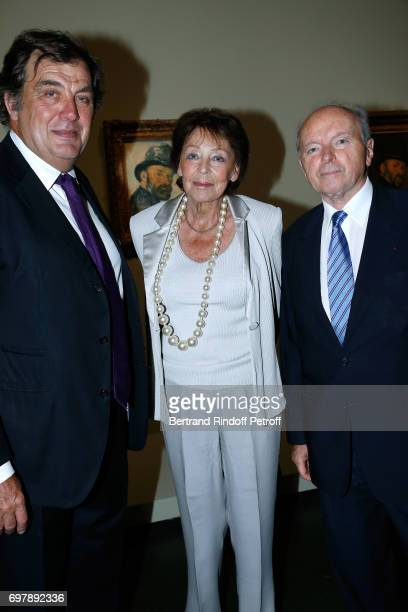Alexandre Vilgrain Lise Toubon and her husband Jacques Toubon attend the 'Societe ses Amis du Musee d'Orsay' Dinner Party at Musee d'Orsay on June 19...