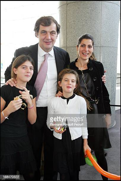 Alexandre Vilgrain wife and their children Arop Gala at the Bastille Opera for 'Reve D'Enfants' Coppelia Ballet by Patrice Bart