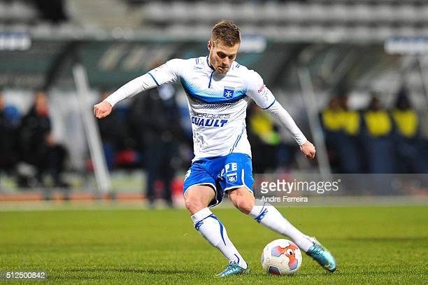 Alexandre Vincent of Auxerre during the French Ligue 2 match between Paris FC v Auxerre at Stade Charlety on February 26 2016 in Paris France