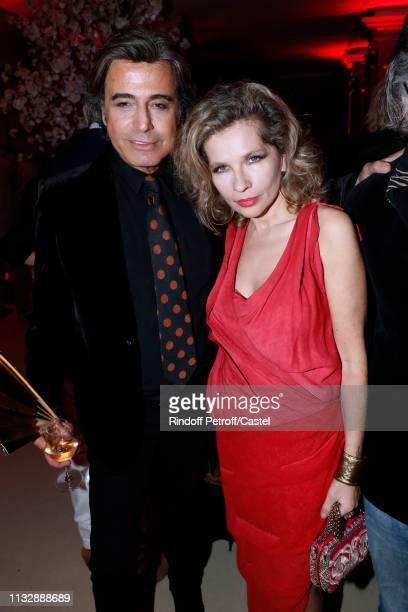 Alexandre Zouari and Eva Ionesco attend the 80th Kenzo Takada Birthday Party at Pavillon Ledoyen on February 28 2019 in Paris France