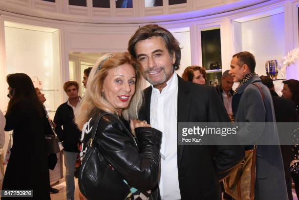 Alexandre Zouari and Sylvia di Cassano attend the Christian Dior Cocktail As part of 'La Fete Des Vendanges' At Avenue Montaigne on September 14 2017...