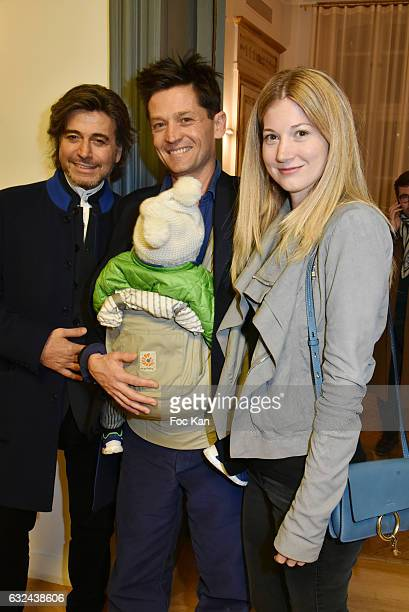 Alexandre Zouari Daniel de La Falaise his son Louis de La Falaise ad his wife Molly de La Falaise attend Retour 'D'Expedition' Harumi Klossowska de...