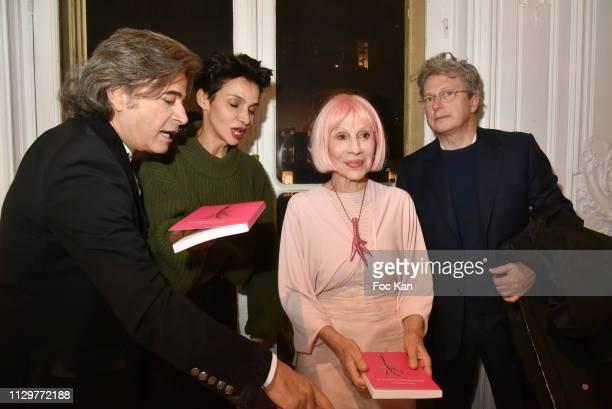 Alexandre Zouari Farida Khelfa Marie Beltrami and Henri Seydoux attend 'Le Monde de Marie Beltrami' Exhibition Preview at Art Curial on February 14...