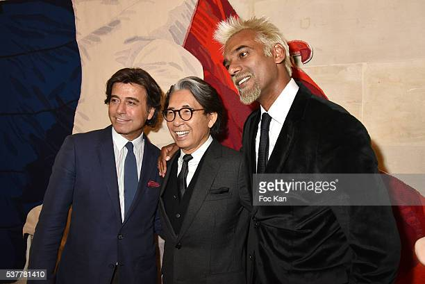 Alexandre Zouari Kenzo Takada and Satya Oblet attend as Kenzo Takada receives the Medal of Chevalier de La Legion d'Honneur at Conseil...