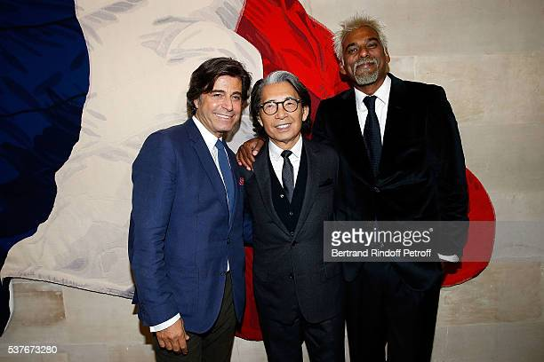 Alexandre Zouari Kenzo Takada and Satya Oblet attend Kenzo Takada Is Honoured With The Insignes of Chevalier De La Legion D'Honneur at Conseil...