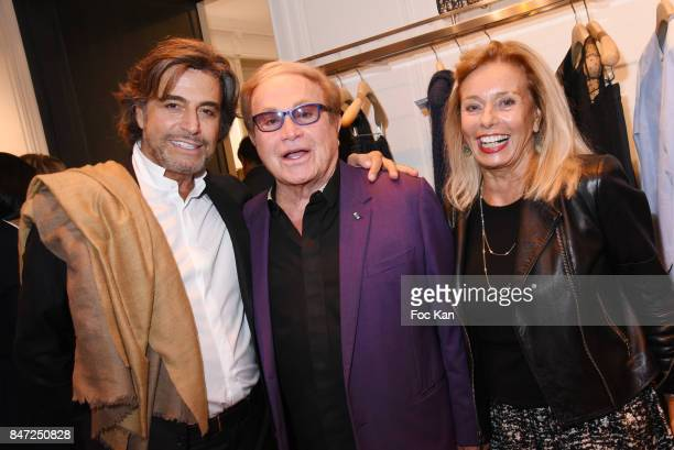 Alexandre Zouari Orlando and Sylvia di Cassano attend the Christian Dior Cocktail As part of 'La Fete Des Vendanges' At Avenue Montaigne on September...