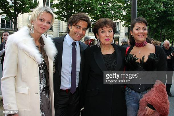 Alexandre Zouari Roselyne Bachelot and Princess Hermine de Clermont Tonnerre at the ChampsElysees Theater in Paris France on May 07 2009