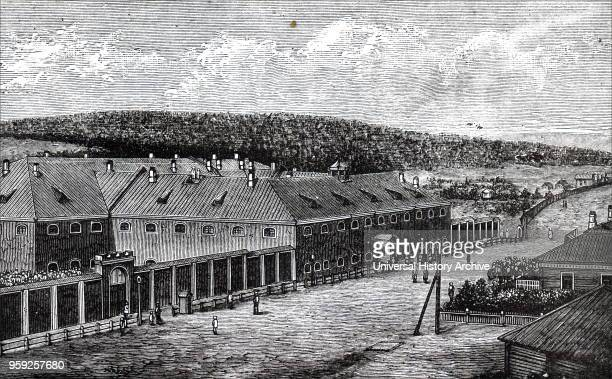 Alexandrevsky Central Prison Siberia, used to house Russian political prisoners.
