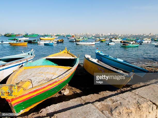 Alexandria boat harbor, Egypt