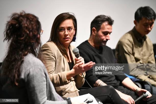 Alexandria Bombach attends the Film Independent Directors CloseUp Another Type Of Narrative The Truth Of Docs at The Landmark on February 13 2019 in...