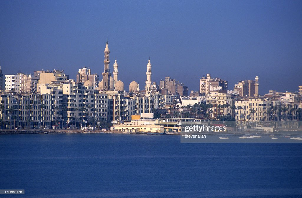 Alexandria city skyline during the day : Stock Photo