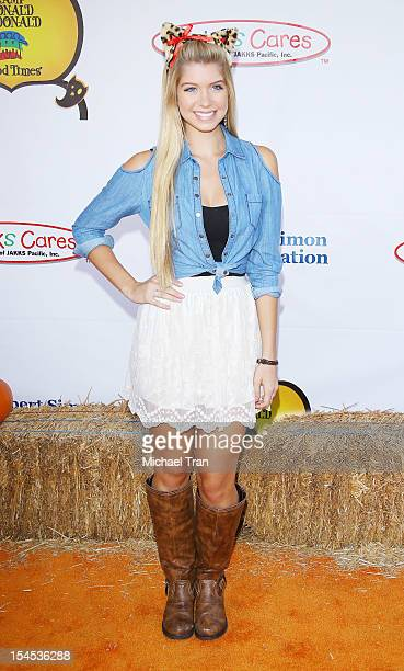 Alexandria Deberry arrives at Camp Ronald McDonald for Good Times '20th Annual Halloween Carnival' held at Universal Studios Backlot on October 21...