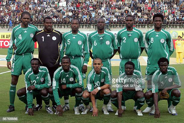 Nigeria's international football team pose for a group picture before their match against the Ivory Coast in the Semifinals of the African Nations...