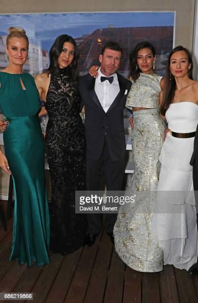Alexandria Jackson Julia Jones director Taylor Sheridan Nicole Sheridan and Joanna Natasegara attend The Weinstein Company prereception of Wind River...