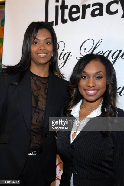 Alexandria Levingston and Angell Conwell during Read To Succeed Literacy Gala at Renaissance Hollywood Hotel in Hollywood California United States