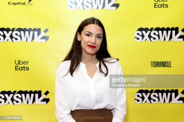 Alexandria OcasioCortez attends Featured Session Alexandria OcasioCortez and the New Left during the 2019 SXSW Conference and Festivals at Austin...
