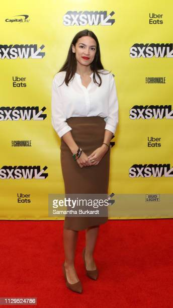 Alexandria Ocasio-Cortez attends Featured Session: Alexandria Ocasio-Cortez and the New Left during the 2019 SXSW Conference and Festivals at Austin...