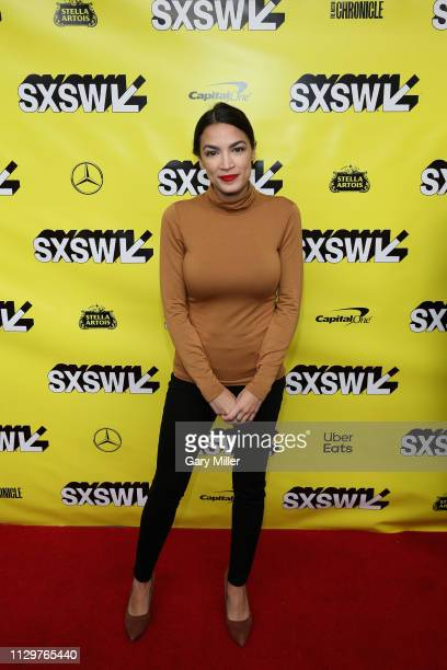 Alexandria OcasioCortez attends the 'Knock Down The House' Premiere during the 2019 SXSW Conference and Festival at the Paramount Theatre on March 10...