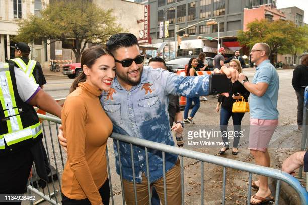 Alexandria OcasioCortez attends the Knock Down The House Premiere 2019 SXSW Conference and Festivals at Paramount Theatre on March 10 2019 in Austin...