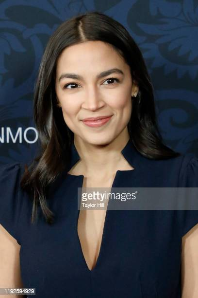 """Alexandria Ocasio-Cortez attends the world premiere of """"Little Women"""" at Museum of Modern Art on December 07, 2019 in New York City."""