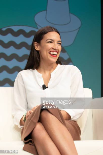 Alexandria OcasioCortez is interviewed live on stage during the 2019 SXSW Conference and Festival at the Austin Convention Center on March 09 2019 in...