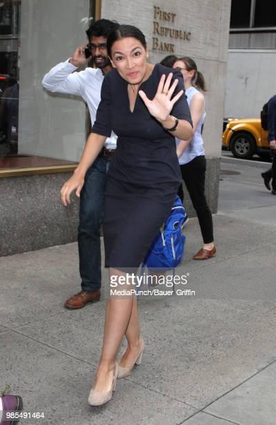 Alexandria OcasioCortez is seen on June 27 2018 in New York City