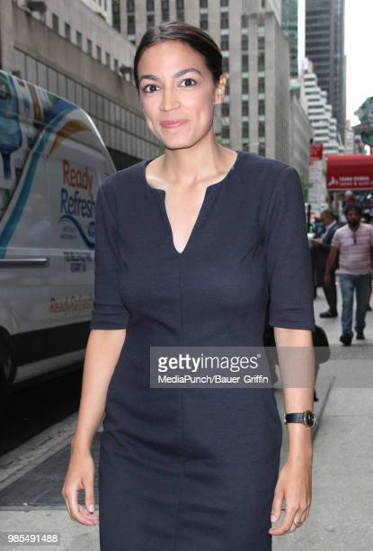 Alexandria OcasioCortez is seen on June 27 2018 in New York City