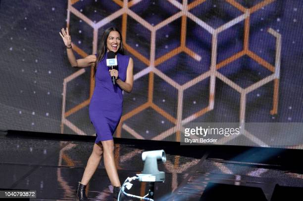 Alexandria OcasioCortez speaks onstage during WE Day UN 2018 at Barclays Center on September 26 2018 in New York City