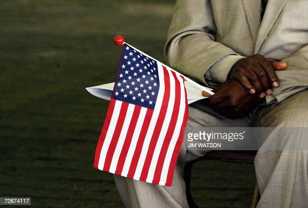 Alexandria, UNITED STATES: TO GO WITH AFP STORY: US-immigration-citizenship-test In this 22 May 2006 file photo, Jeneba Kanu, originally from Sierra...